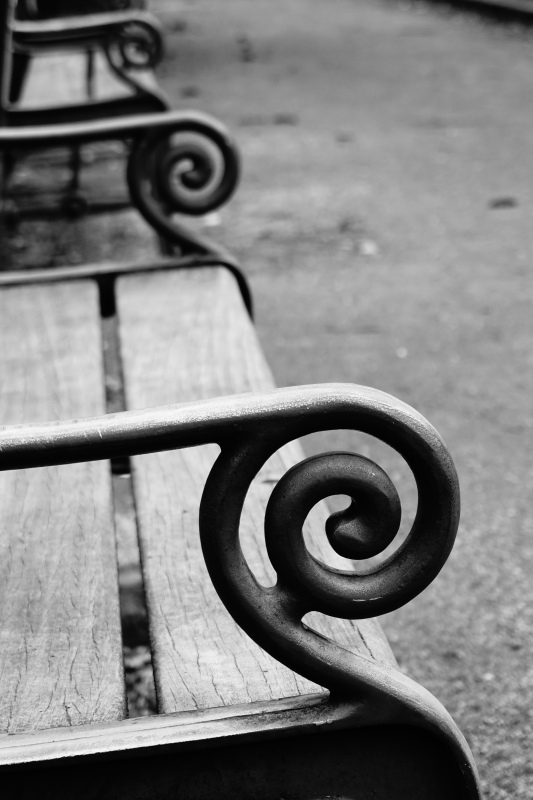 waiting park bench