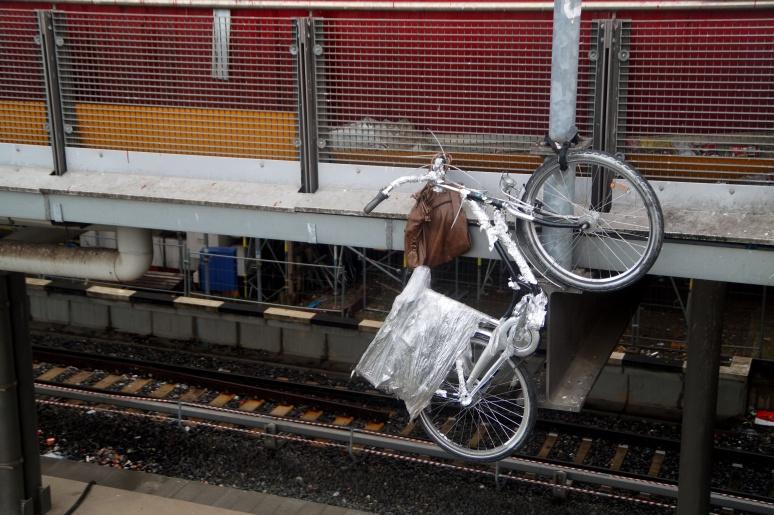 gesichertes fahrrad